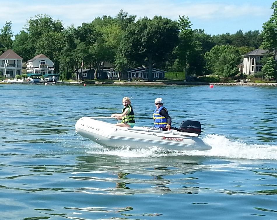 Kids at the lake