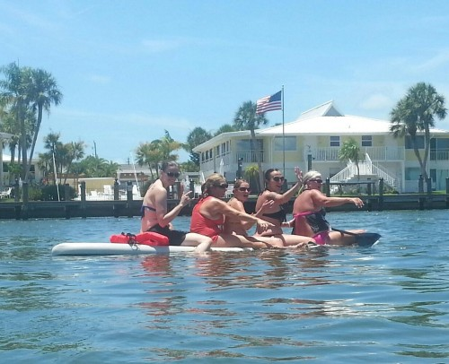 5girls on A SUP