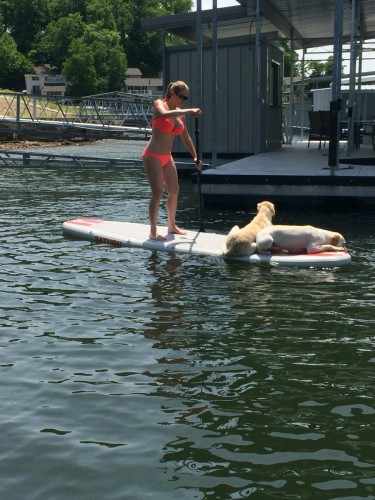 SUPing with my pups