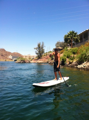 SUPing under Parker dam