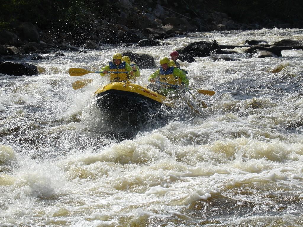 rafting in byske river