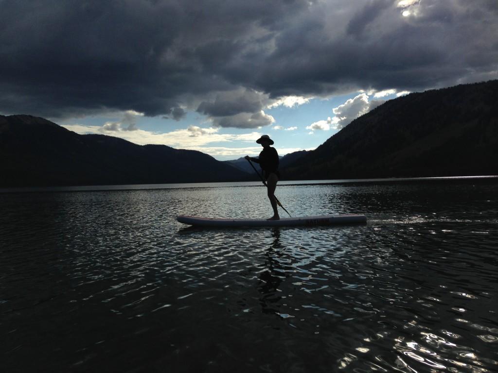 Paddle boarding Idaho style