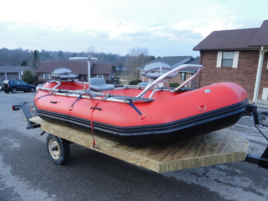 13' Saturn Whitewater Raft with NRS Fishing Frame Example Package