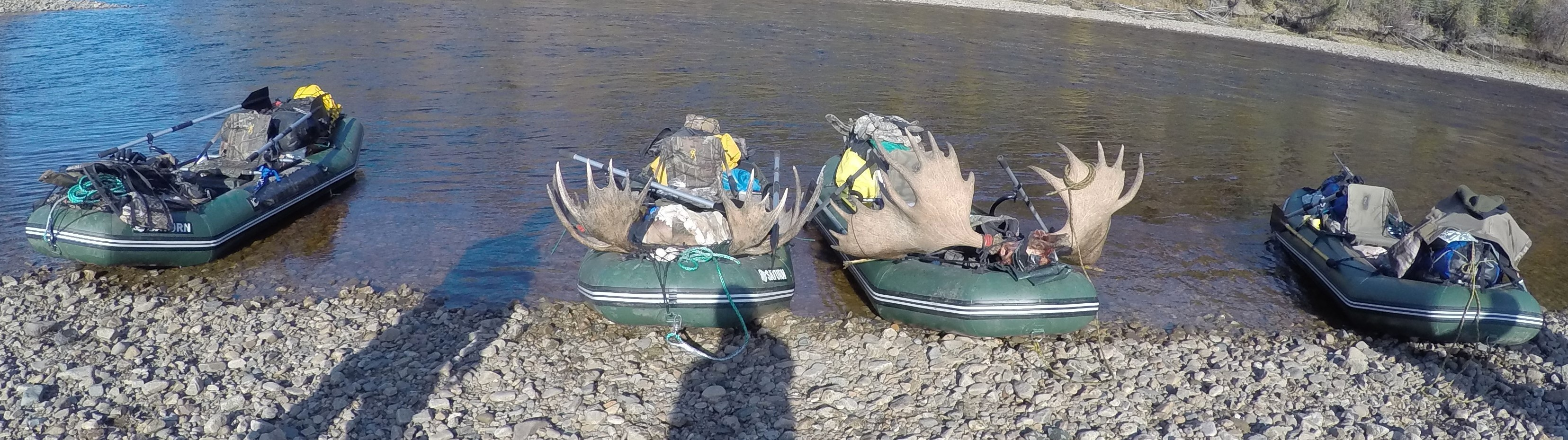 12' Saturn Raft/Kayaks Supporting a successful Alaska Moose Hunt! No better test for durability and performance.