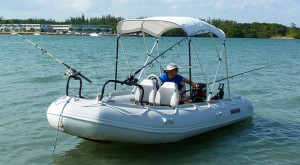 Inflatable fishing boat saturn