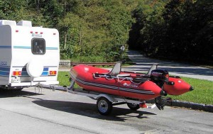 Inflatable boats transportation