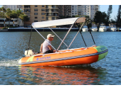 2-Bow Folding Bimini Top Deluxe. Saturn Boats